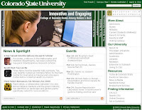 Colorado State University computer screen image.