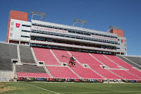 University of Utah football stadium empty during the day.