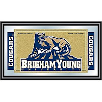 BYU Cougars license plate.