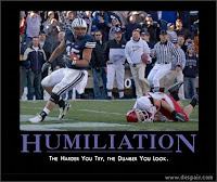 BYU football funny inspirational poster.