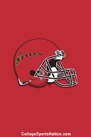 Red banner of Aztecs football helmet.