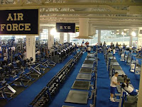 Air Force weight room.