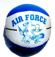 Air Force soft toy basketball with mascot.
