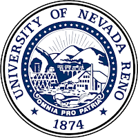 University of Nevada Reno blue and white seal.