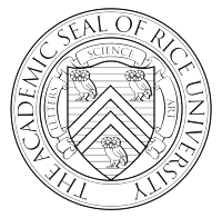Round Academic Seal Of Rice University.
