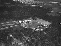Old aerial photo of the University of Houston.