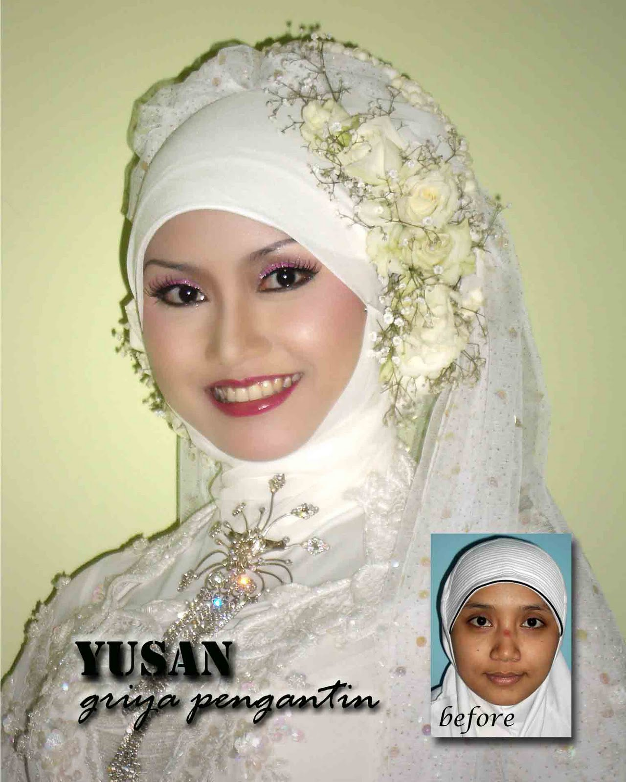 up and bridal Yusan (Contoh Make Up Dan Busana Pengantin Yusan Salon