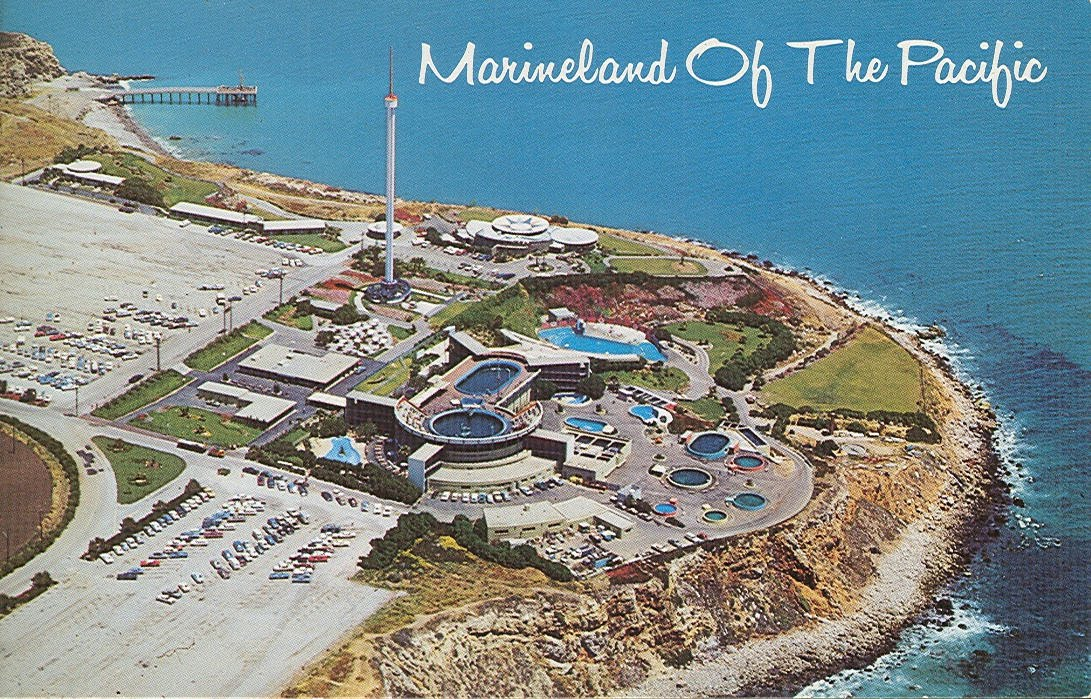 Vintage Travel Postcards Marineland Of The Pacific California