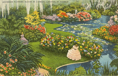 Vintage Travel Postcards Cypress Gardens Florida