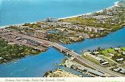 Sarasota, Florida. Aerial view of Stickney Point Bridge over the inland . (sarasota fl)
