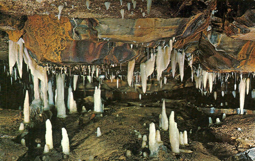 Liberty Near Me >> Vintage Travel Postcards: Ohio Caverns - West Liberty, Ohio