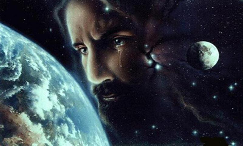Jesus Crying Over Earth
