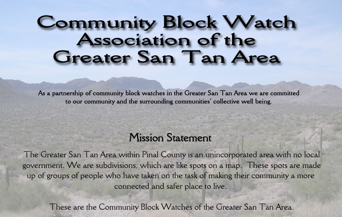 Community Block Watch Association of the Greater San Tan Area