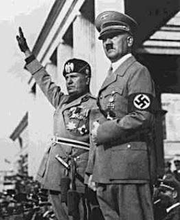 Mussolini e Adolf Hitler 2ª Guerrra Mundial