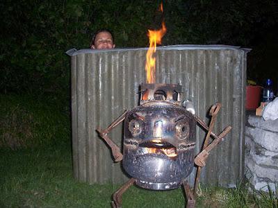 Jacuzzi feu de bois - Fabriquer bain nordique ...