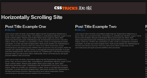 How+To+Create+a+Horizontally+Scrolling+Site 40 PSD to XHTML, CSS Tutorials to Create Web Layouts