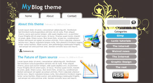 Blog+Theme+Design+tutorial 100+ Exceptional GIMP Tutorials and Resources