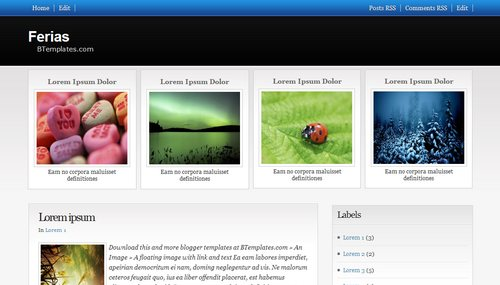 Ferias Blogger Toolbox: Fresh, Free and Stunning Blogger Templates