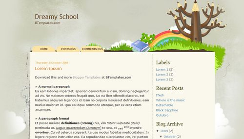 Dreamy School Blogger Toolbox: Fresh, Free and Stunning Blogger Templates