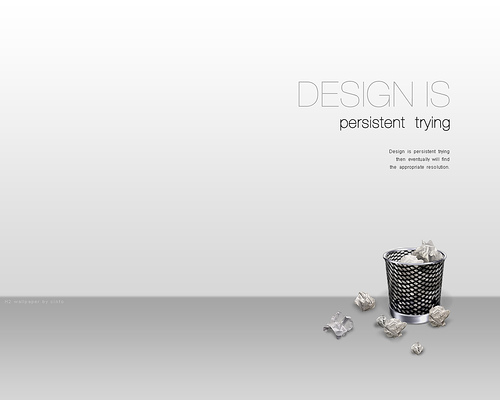 "Persistence+trying 70+ Super Creative Wallpapers ""About Design"""