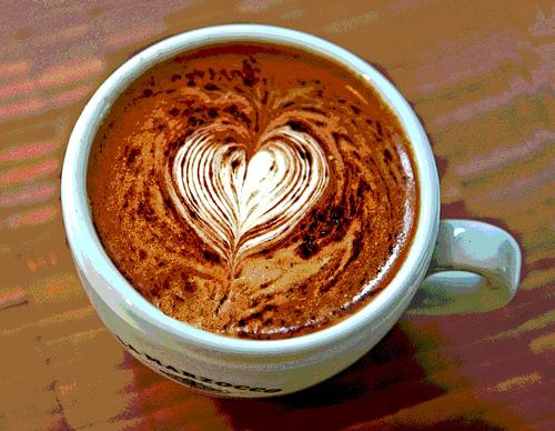 latte+heart+with+cocoa Delicious Coffee Latte Art  Too Beautiful to Drink