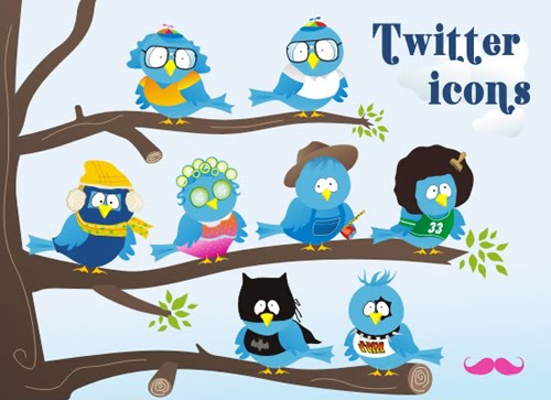 Winter+Themed+ ++free+twitter+icon+set%21 Fresh and Exceptional Twitter Bird Design Icons