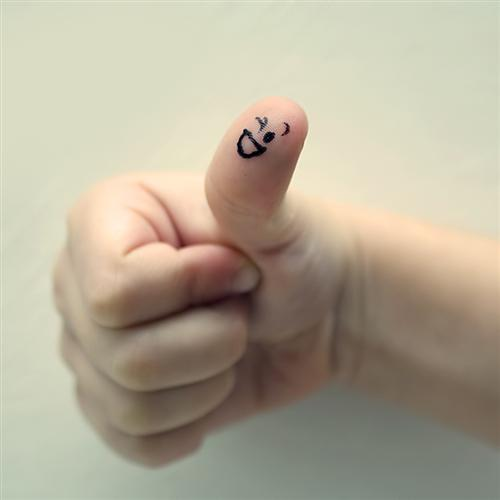 "thumbs up  by meppol 45 Gorgeous ""Smiley Fingers"" Photographs"
