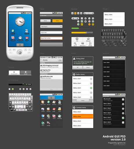 Android+GUI+by+%7E+Vladimir+Grishin Google Nexus One, Android GUI PSD Packs For Designers