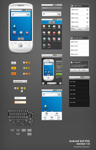 Free+Android+GUI+PSD+by+%7EMatctcheck Google Nexus One, Android GUI PSD Packs For Designers