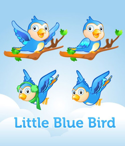 little blue bird preview2 Fresh and Exceptional Twitter Bird Design Icons