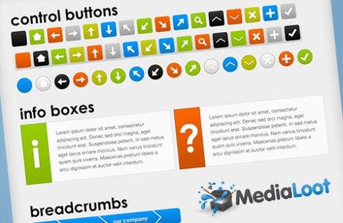 Massive+Web+UI+%26+Button+Set Best of the Web: Design Community February 2010