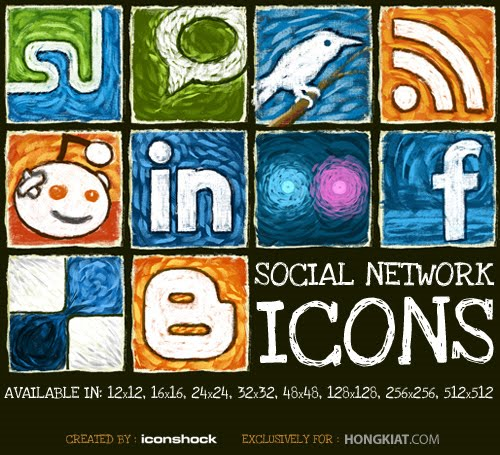 Freebie+Release+Social+Network+Icon+Set%7E+by+hongkiat,+Iconshock 10 Fresh and Unique High Quality Social Network Icon Sets