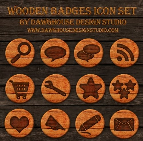 Wooden Badges Icons Dawghouse 10 Fresh and Unique High Quality Social Network Icon Sets