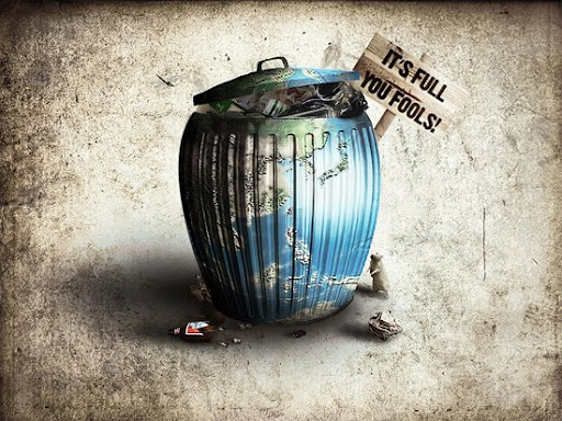 Full of trash by KarimDesign+DA Inspirational Posters and Advertisements Dedicated to Earth Day | Part 1
