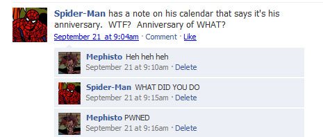 statusspiderman 40+ Hilarious Facebook Comic Strips