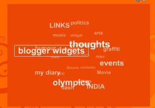 Wordpress style animated label cloud widget   Blogumus for blogger