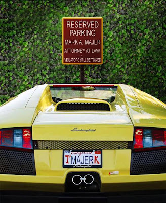 RESERVED PARKING! MARK A. MAJER, ATTORNEY AT LAW
