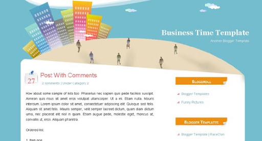 Business+Time Huge Compilation of Best Blogger Templates Released in 2010 | Blogspot Toolbox