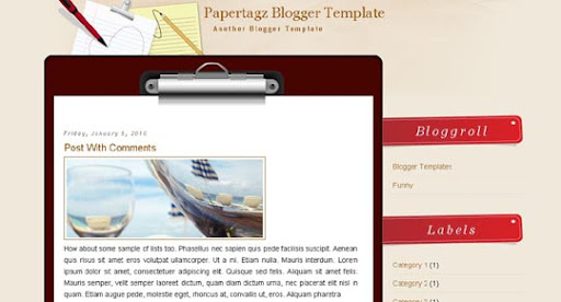 Papertagz Huge Compilation of Best Blogger Templates Released in 2010 | Blogspot Toolbox