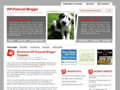 wp+polaroid+blogger+template Roundup Of Best Blogger Templates