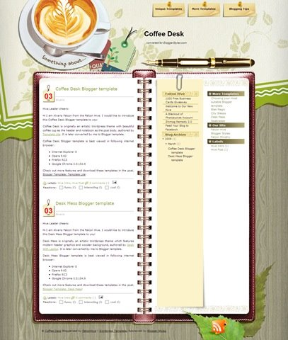 Coffee Desk Blogger template