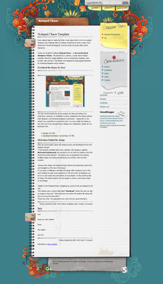 Notepad Chaos Blogger template
