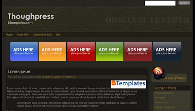 Toughpress blogger template