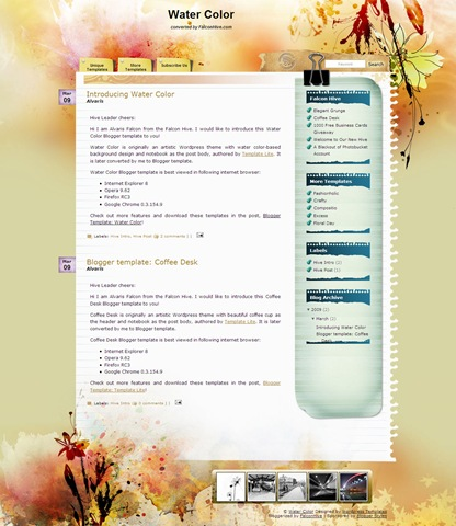 water color blogger template Roundup Of Best Blogger Templates