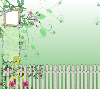 Flower Garden Twitter BG by *ArtandMore