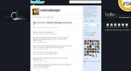 ronicadesign 100+ Incredible Twitter Backgrounds