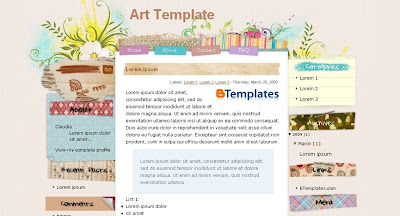 art+template Visually Impressive and Smashing Blogger Templates