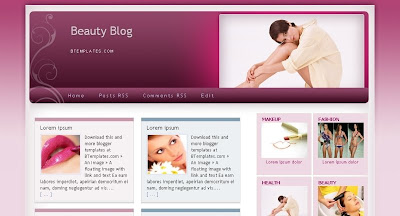 Beauty+Blog Visually Impressive and Smashing Blogger Templates