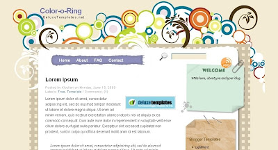 Color o Ring Visually Impressive and Smashing Blogger Templates