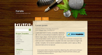 kanata Visually Impressive and Smashing Blogger Templates